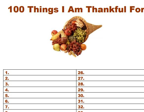 Printable gratitude list my simpler life simple living for Minimalist living 100 things list